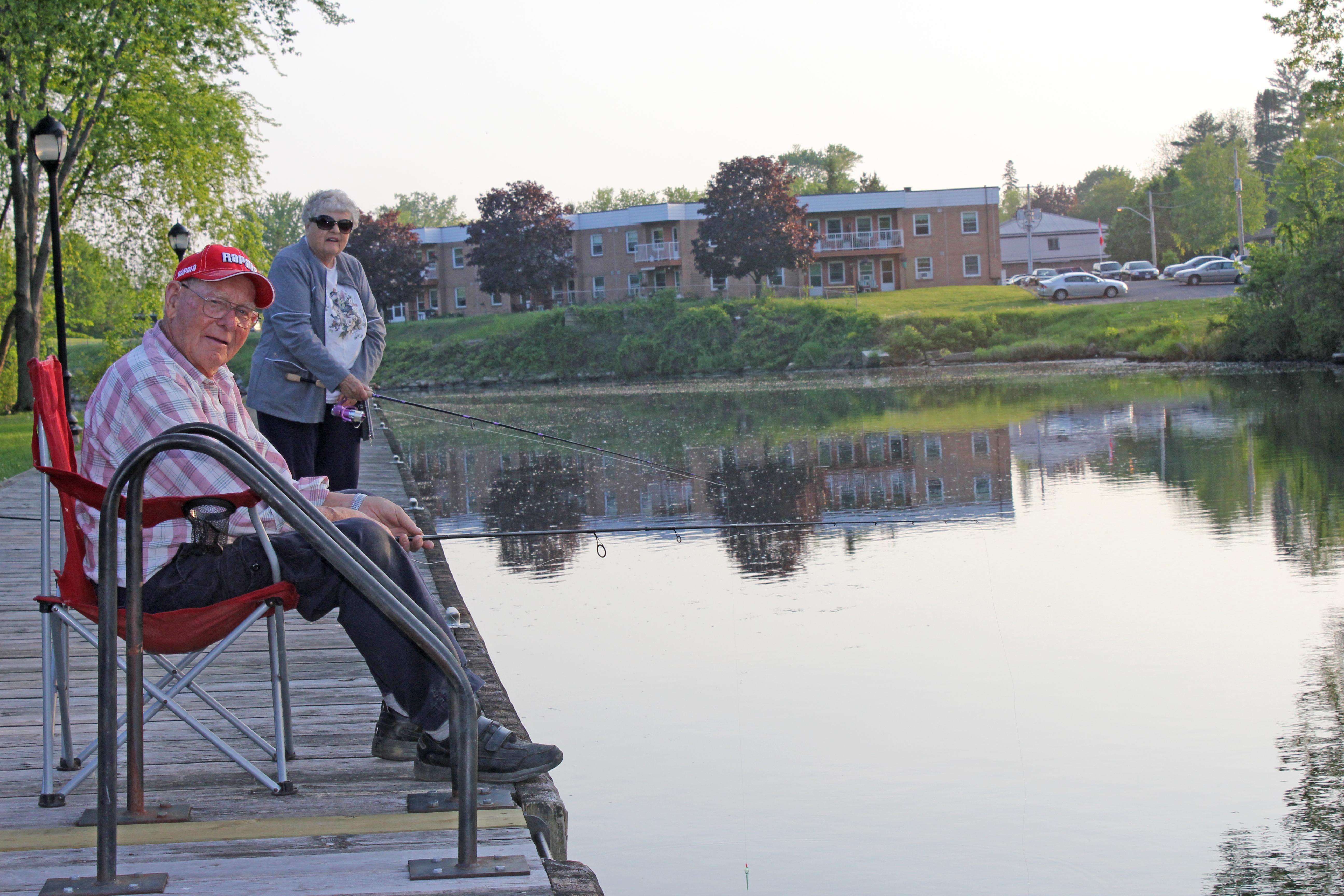 grandma and grandpa fishing