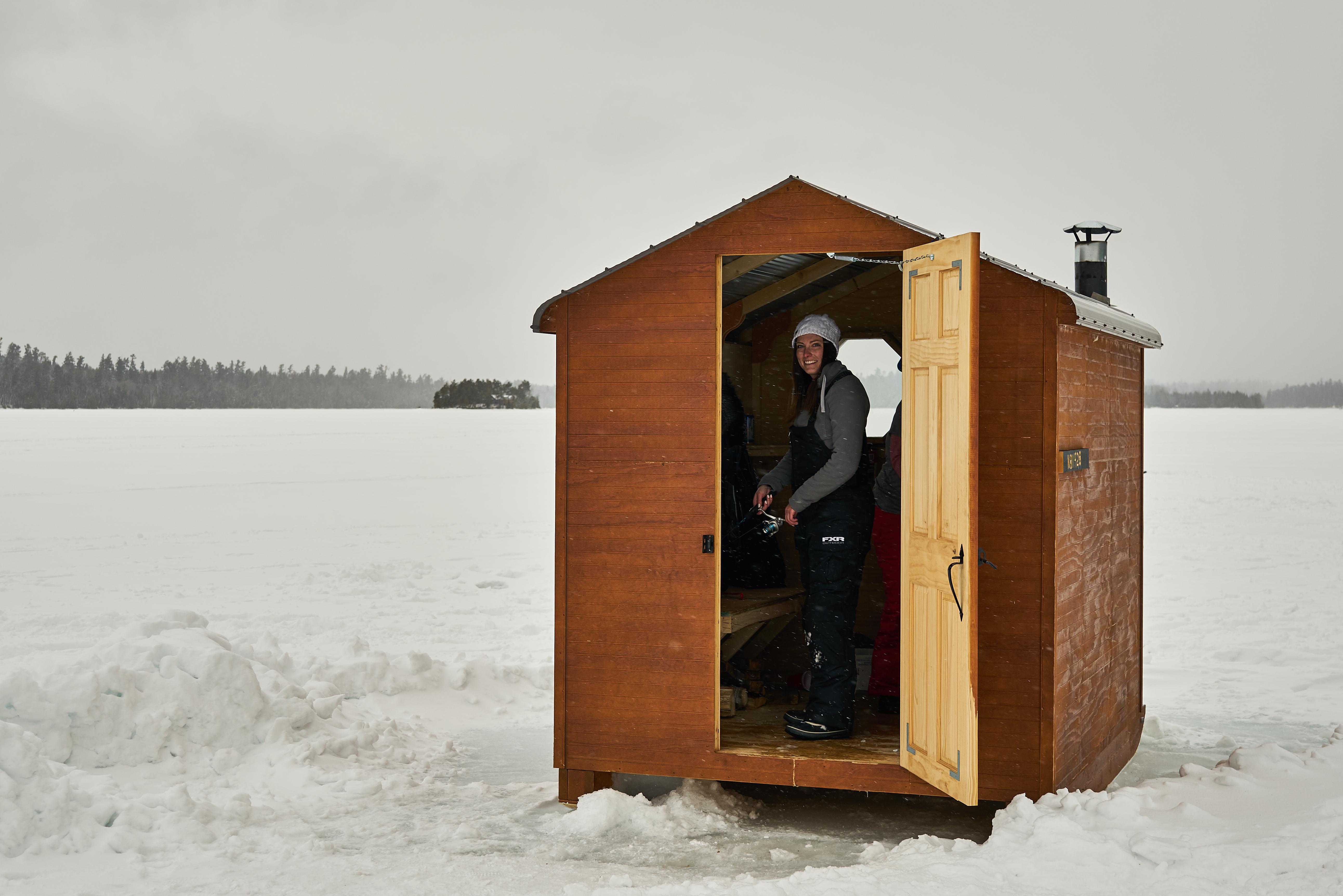 Brittany in ice hut